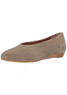 Gentle Souls by Kenneth Cole Women's Neptune Low Wedge Pump with Round Toe Suede Wedge Pump sage 8.5 M US
