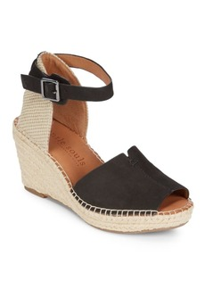 Gentle Souls Charli Leather Espadrille Wedge Sandals