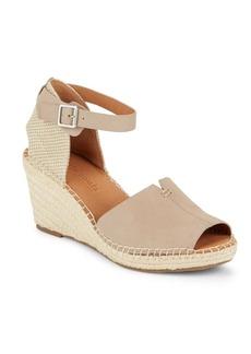Gentle Souls Charli Leather Espadrille Wedge Sandals
