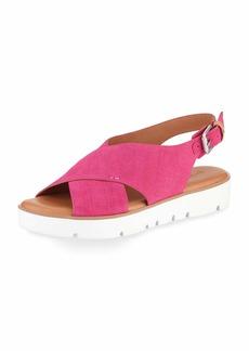 Gentle Souls Kiki Brushed Suede Comfort Sandal