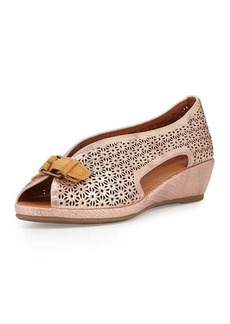 Gentle Souls Lanner Laser-Cut Slip-On Wedge