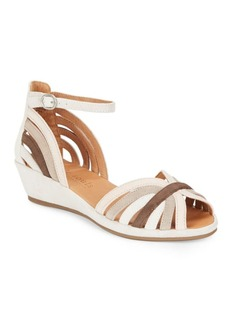 Gentle Souls Leah Leather Wedge Sandals
