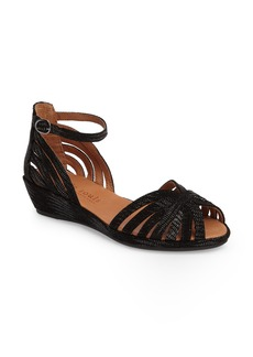 Gentle Souls 'Leah' Peep Toe Wedge Sandal (Women)