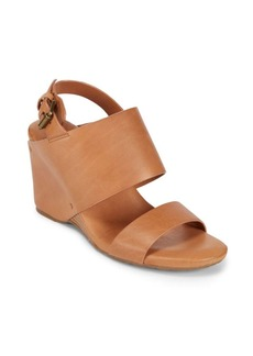 Gentle Souls Leather Wedge Sandals