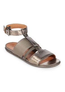 Gentle Souls Ophelia Pewter Flat Sandals