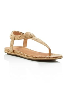 Gentle Souls Oxford Cork T-Strap Sandals