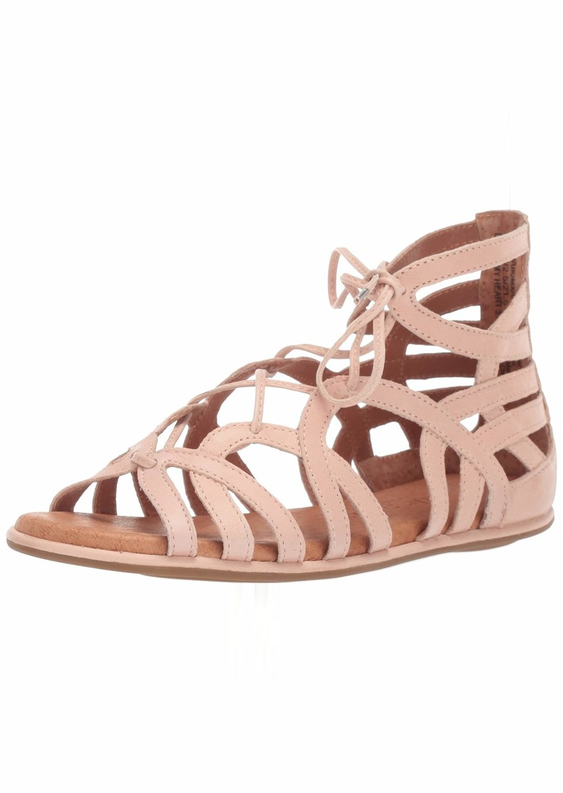 Gentle Souls Women's Break My Heart Gladiator Sandal Flat