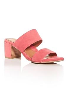 Gentle Souls Women's Cherie Suede Block Heel Slide Sandals - 100% Exclusive