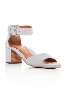 Gentle Souls Women's Christa Suede Ankle Strap Block Heel Sandals