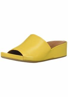 Gentle Souls Women's Gisele Low Wedge Slide Sandal Sandal   M US