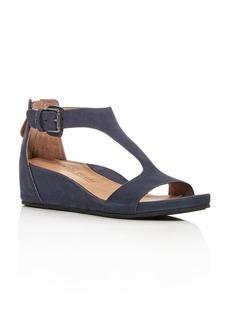 Gentle Souls Women's Gisele Nubuck Leather Platform Wedge Sandals