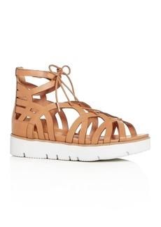 Gentle Souls Women's Larina Leather Gladiator Platform Sandals