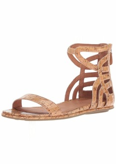 Gentle Souls Women's Larisa Flat Sandal with Gladiator Ankle Straps   M US