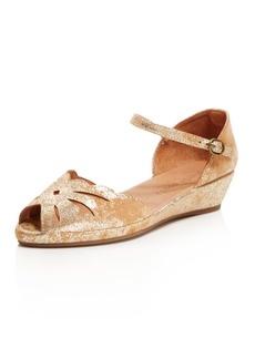 Gentle Souls Women's Lily Moon Leather Wedge Flats