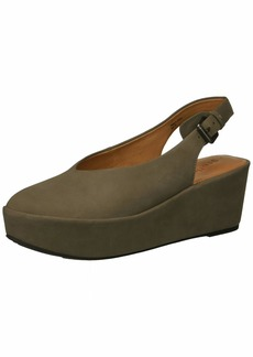 Gentle Souls Women's Nyomi Closed Toe Platform Wedge Backstrap   M US