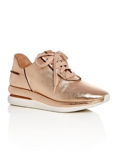 Gentle Souls Women's Raina Leather Lace Up Wedge Sneakers