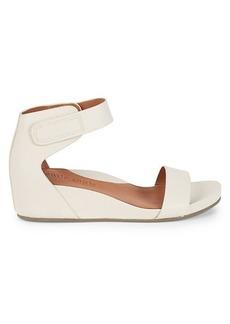 Gentle Souls Georgette Leather Wedge Sandals