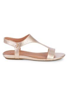 Gentle Souls Layla Metallic-Leather T-Strap Sandals