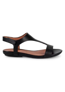Gentle Souls Layla Pebbled Leather T-Strap Sandals