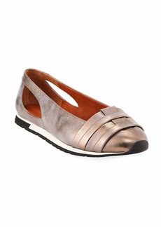 Gentle Souls Luca Cutout Metallic Leather Comfort Flats