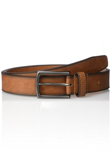Geoffrey Beene Men's Cut Edge Casual Belt With Gunmetal Buckle