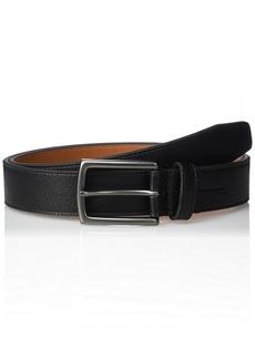 Geoffrey Beene Men's Cut Edge Casual Belt With Gunmetal Buckle black