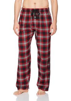 Geoffrey Beene Men's Flannel Sleep Pant red/Black/White Plaid