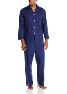 Geoffrey Beene Men's Long Sleeve Broadcloth Pajama Set