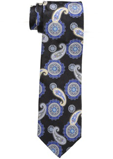 Geoffrey Beene Men's Medallion Paisley Tie black