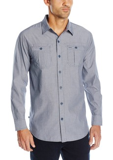 Geoffrey Beene Men's Pinstripe Woven Shirt  L