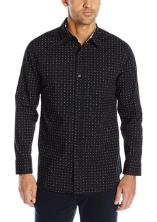 Geoffrey Beene Men's Printed Poplin Woven Shirt  XL
