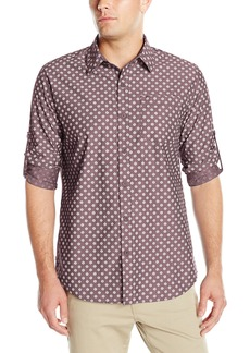 Geoffrey Beene Men's Printed Sharkskin Woven Shirt  L