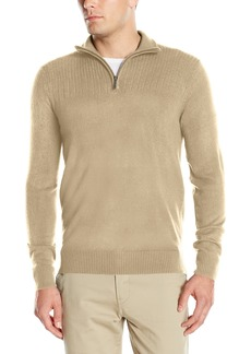 Geoffrey Beene Men's Quarter Zip Sweater  S