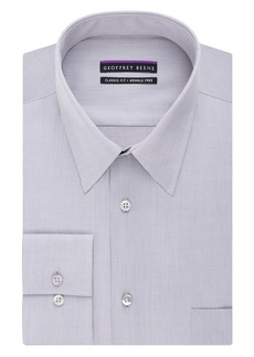 Geoffrey Beene Men's Regular Fit Textured Stripe Sateen Shirt