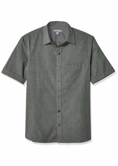 Geoffrey Beene Men's Slim Fit Short Sleeve Button Down Solid Shirt