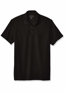 Geoffrey Beene Men's Slim Fit Short Sleeve Ottoman Solid Polo Shirt