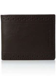 Geoffrey Beene Men's Stitched Perforated Rfid Blocking Bifold Wallet