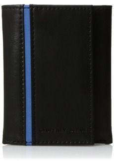 Geoffrey Beene Men's Stitched Trifold Wallet black