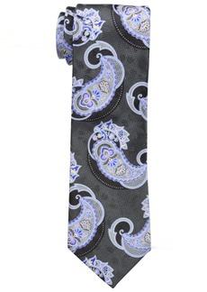 Geoffrey Beene Men's Uptown Elegant Paisley Tie black