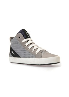 Geox Alonisso Perforated Mid Top Sneaker (Toddler, Little Kid & Big Kid)