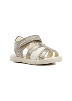 Geox Alul Metallic Sandal (Walker & Toddler)