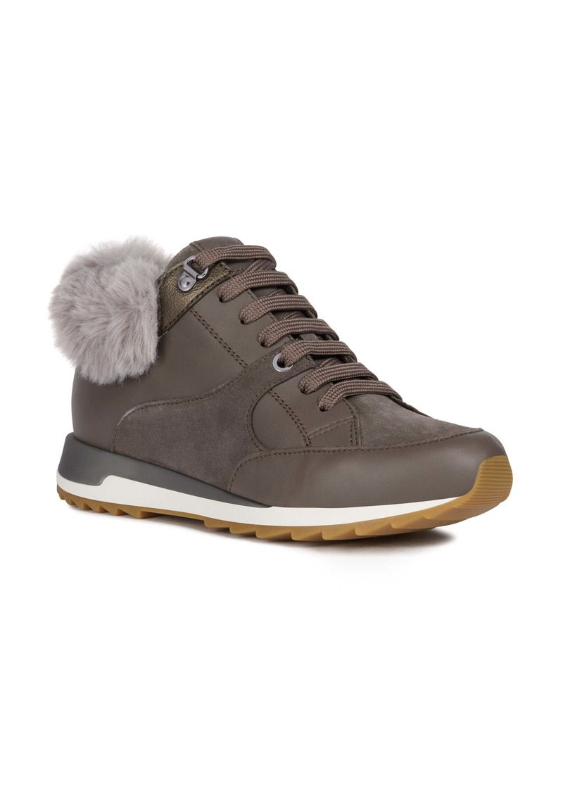 Geox Aneko Amphibiox Waterproof Faux Fur Trim Sneaker (Women)