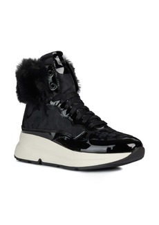 Geox Backsie Amphibiox Waterproof Faux Fur Trim Sneaker Boot (Women)