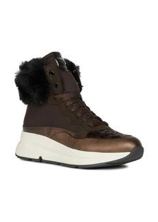 Geox Backsie Amphibiox Waterproof Faux Fur Trim Sneaker Boot (Women)