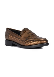 Geox Brogue Quilted Loafer (Women)