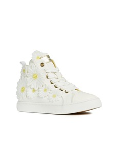 Geox Ciak Daisy Appliqué High Top Sneaker (Toddler, Little Kid & Big Kid)