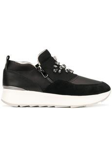 Geox crystal embellished sneakers - Black