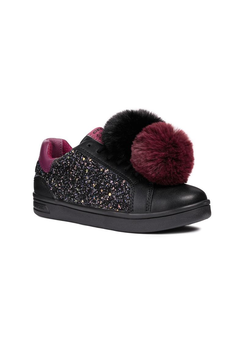 Geox DJ Rock 5 Pompom Glitter Sneaker (Toddler, Little Kid & Big Kid)
