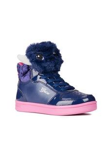Geox DJ Rock Fuzzy Friend Sneaker (Toddler, Little Kid & Big Kid)