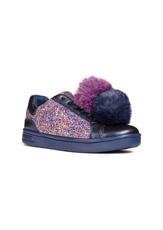 Geox DJ Rock Glitter Pompom Sneaker (Toddler, Little Kid & Big Kid)